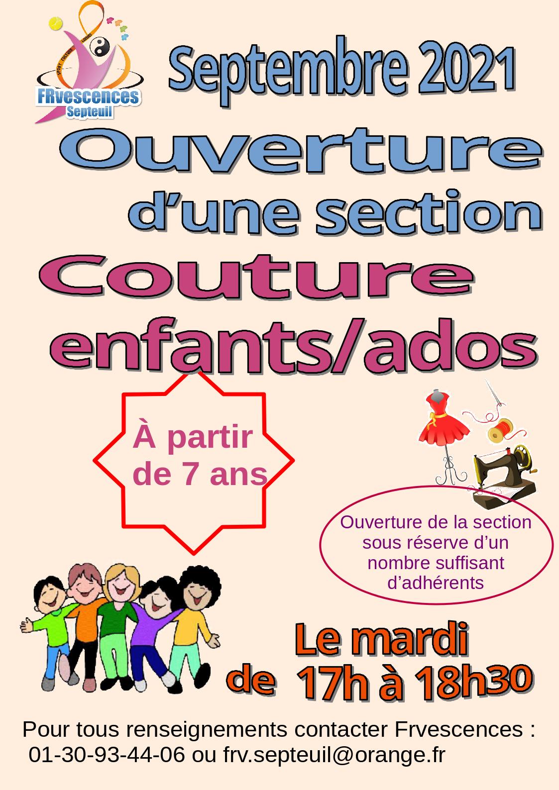 Affiche couture enfants