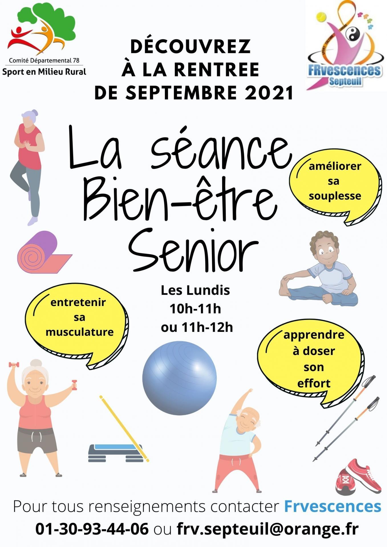 Affiche seance gym senior