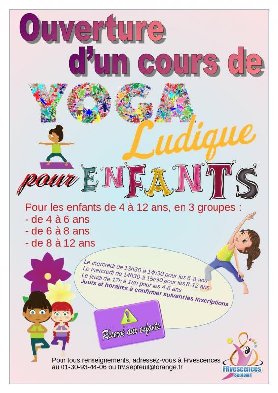 Affiche yoga enfants
