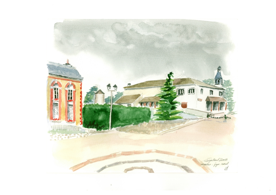 Aquarelle foyer rural 2